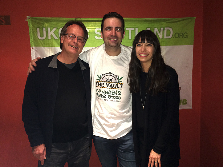 Meeting the lovely couple: Jack with Marc and Jodie Emery