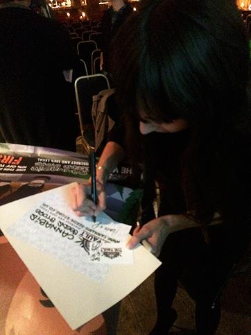 Jodie's signing