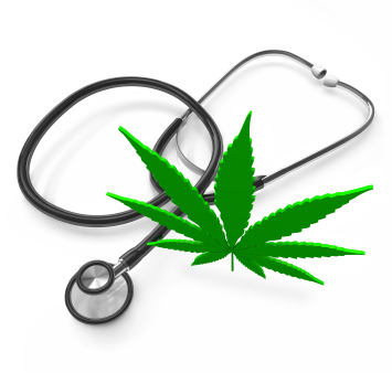 Medical Marijuana - Cannabis Leaf and Stethoscope