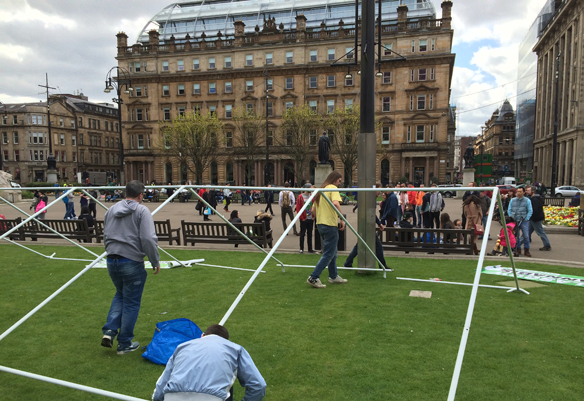 Setting Up for Glasgow 420 Event
