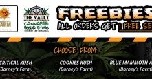 Get Awesome Barneys Farm Seeds Free with Every Order at The Vault!
