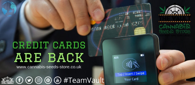 International Credit Card Payments are Now Back at The Vault!