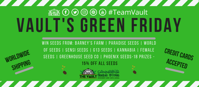 Green Friday Bonanza at The Vault – Win Seeds + 15% Discount
