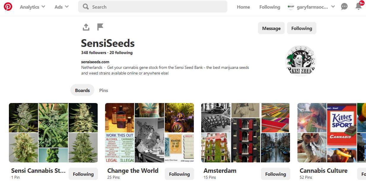 Sensi Seeds are on Pinterest too
