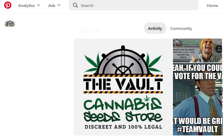 The Vault Cannabis Seeds Store on Pinterest