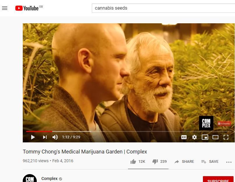 Tommy Chong's Medical Marijuana Garden