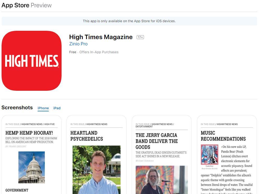 High Times Cannabis Magazine