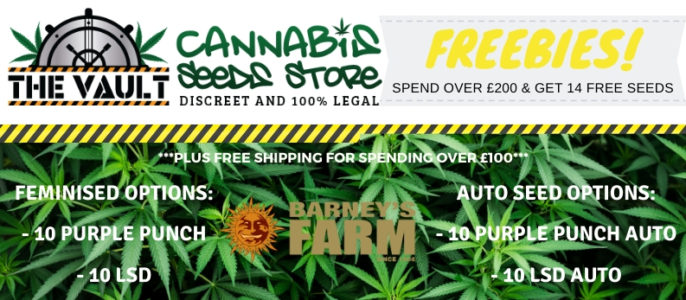 Spend over £200 and get 10 FREE Barneys Farm Seeds