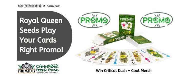 Royal Queen Seeds Promo – Play Your Cards Right – 5 Prizes to Be Won